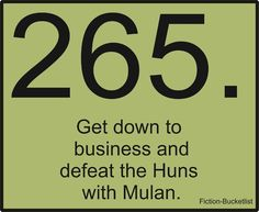 Get down to business and defeat the Huns with Mulan.