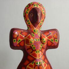 Inspiration, Millefiori Goddess Of The Hearth, Gaia Goddess, Sculpture Art, Sculptures, Artist Signatures, Archaeology, Polymer Clay, Lisa, Statue