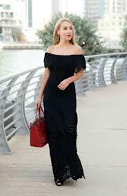 off shoulder black maxi dress #followme #black #monday