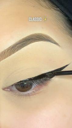 Eyebrow Makeup Tips, Makeup Tutorial Eyeliner, Makeup Looks Tutorial, No Eyeliner Makeup, Skin Makeup, Makeup Hacks, Dope Makeup, Makeup Eye Looks, Eyeliner Looks