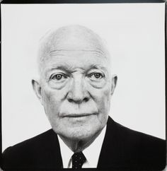 In honor of Presidents' Day, a solemn portrait of Dwight Eisenhower by Richard Avedon  The Museum of Modern Art