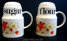 Retro flour and sugar sifters