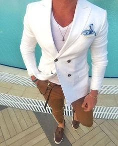 Latest Coat Pant White Double Breasted Casual Blazer Skinny Tuxedo Custom Jacket Style
