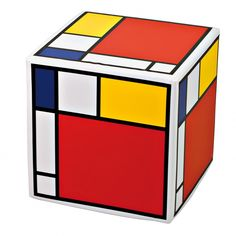 Mondrian Style Cube Stool