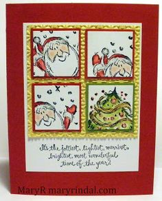 {scrap and stamp with mary}: Santa Inchies - Jolliest Time of the Year