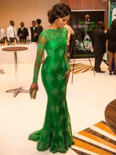This green lace evening gown can be made for you in any color and in any size. Changes to any made to order dress are allowed with our firm.  We also make #replicaeveningdresses for clients upon request that will look like the haute couture original but cost way less.  We can work from any picture you have.  Get more info on custom #eveningdresses or replica designs when you visit us at www.dariuscordell.com/