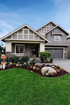 Murray Franklyn Home Front Yard, I like the grey color of this house!  #LandscapingFrontYard