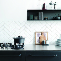 KitchenWalls backsplash wallpaper HERRINGBONE 1434