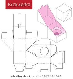 Vector Illustration of Box. Isolated White Retail Mock up. Vector Illustration of Box. Isolated White Retail Mock up. Packaging Dielines, Egg Packaging, Packaging Design, Diy Gift Box, Diy Box, Paper Box Template, Box Templates, Stampin Up Anleitung, Diy And Crafts
