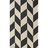 Found it at AllModern - Chelsea Chevron Charcoal Rug