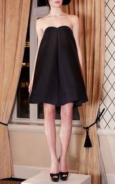 Box Pleat Mini Dress by Katie Ermilio for Preorder on Moda Operandi