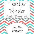 Free Editable Teacher Binder