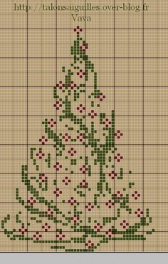 Another Classic Christmas Tree – Cross-Stitch Xmas Cross Stitch, Cross Stitch Charts, Cross Stitch Designs, Cross Stitching, Cross Stitch Embroidery, Embroidery Patterns, Cross Stitch Patterns, Loom Patterns, Cross Stitch Christmas Cards