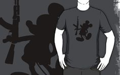 """Mickey Mouse and the AK-47"" T-Shirts & Hoodies by Balogh Domonkos 