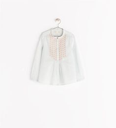 SHIRT WITH LEAF EMBROIDERY