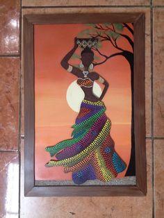 Mandala Canvas, Mandala Art, Dot Art Painting, Fabric Painting, African Art Projects, Afrique Art, African Art Paintings, India Art, Nature Drawing