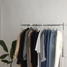 fashion wardrobe clothes outfit vintage retro style aesthetic apparel closet dream jumpers tshirts sweaters cool room artsy denim jackets skirts simple looks plant spaces dungarees home Aesthetic Rooms, Aesthetic Clothes, Look Fashion, Korean Fashion, 90s Fashion, Student Fashion, Fashion News, Fashion Design, Noora Style