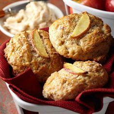 Midwest Living 50 Favorite Fall Recipes - Apple Scones with Spiced Maple Butter