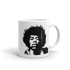 Jimi - Mug. Whether you're drinking your morning coffee, your evening tea, or something in between – this mug's for you! It's sturdy and glossy with a vivid pri Morning Coffee, Drinking, Cups, Ceramics, Make It Yourself, Tea, Tableware, Shop, Ceramica