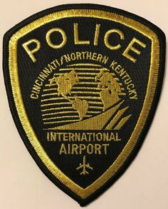 Cincinnati Ohio OH Northern Airport Plane Kentucky KY Police Sheriff Aviation Airplane Patch. This patch is obsolete and is strictly for collecting.