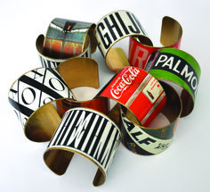 Graphic Cuff - Advertising Art from the 20s, typographic, and found art - 2014 Artisan Market Streeterville - Sat/Sun - Nov 1-2. 10am-5pm. 303 E Superior.