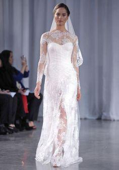 Monique Lhuillier Fall 2013 wedding dress