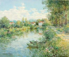 Jean Kevorkian, French, L Etang, oil on canvas, 19 1/2 x 24