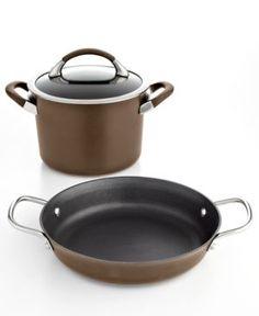 Circulon Symmetry Chocolate 3 Piece Cookware Set - Brown