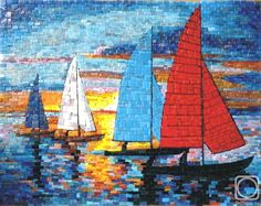 Mosaic - After a Regatta by Sergey Maslennikov