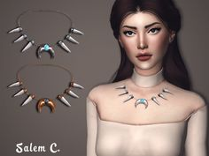 Fangs Necklace at Salem2342 via Sims 4 Updates  Check more at http://sims4updates.net/accessories/fangs-necklace-at-salem2342/