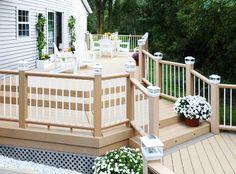 Deck Railing Ideas   Aluminum, Cable, Vinyl, Metal, & Glass - porch railing systems