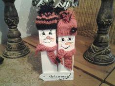 Opa en oma Sneeuwpop