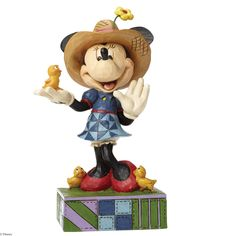 4049636 Country Life (Farmer Minnie)- Jim Shore salutes farmers everywhere with this charming Minnie Mouse piece featuring Jim's rich colour palette and unique folk art design #disney #collectable #jimshore