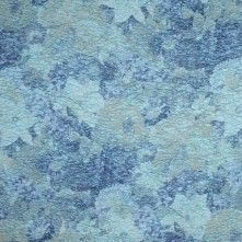 Italian Aquatic Blue Floral Brocade