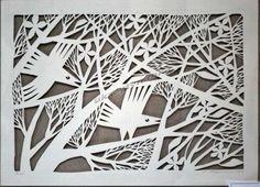 Metal Bird Wall Art, Bird Art, Paper Pot, Paper Clay, Mosaic Madness, Cut Canvas, Paper Artwork, Barn Quilts, Kirigami