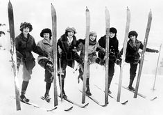 Vintage Ski Fashion – 48 Snapshots of Female Skiers From the and ~ vintage everyday jumping country skiing resorts Colorado ski Ice climbing Madame Gres, Ski Vintage, Vintage Travel Posters, Vintage Winter, Ski Girl, Ski Posters, Madeleine Vionnet, Ski Fashion, 1930s Fashion