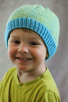 Balls to the Walls Knits: Sunny Stripes Hat