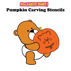 Carve a cuddly (but frightful) Rockabye Baby #pumpkin this #Halloween! Download all of our stencils here! http://rocka.by/RBPmknStn