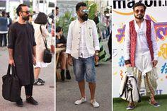 Street style dipped in India-Modern theme aplenty. #AIFW #Streetstyle  #Indiamodern #AmazonIndiafashionweek #fashionshow
