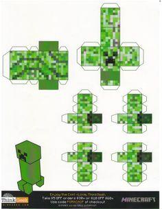 minecraft papercraft | Minecraft paper crafts sponsored by Thinkgeek--which I think is ...