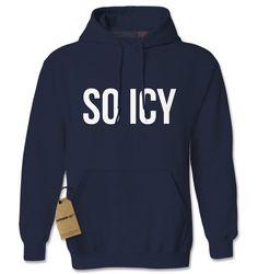 Hoodie So Icy Hooded Jacket Sweatshirt Guwop by XpressionTees