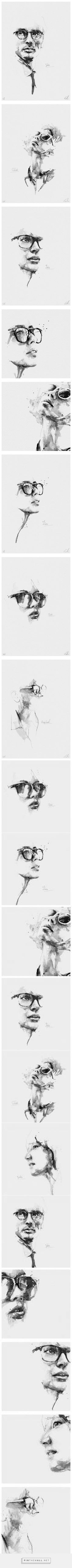 Pencil Portrait Mastery - Spontaneous and Realistic Black and White Pencil Portraits – Fubiz Media - created via pinthemall.net - Discover The Secrets Of Drawing Realistic Pencil Portraits
