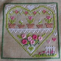 SAL Coeur de printemps: I adore french cross stitch.