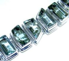 Beautiful item with Green Amethyst Gemstone(s) set in pure 925 sterling silver.
