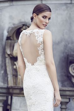 Style * 4567 * » Bridal Gowns, Wedding Dresses » Spring 2015 Collection » by Paloma Blanca » Available Colours : Pearl (close up)