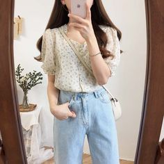 Korean Casual Outfits, Korean Outfit Street Styles, Cute Casual Outfits, Simple Outfits, Pretty Outfits, Casual Clothes, Korean Girl Fashion, Korean Fashion Trends, Ulzzang Fashion
