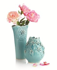 Arrange blooms in a vase with sculpted blossoms for the ultimate display