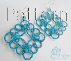 PDF Tatting Pattern Tila Earrings by JTatter on Etsy
