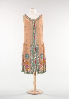 Evening dress, 1925 France, the Met Museum