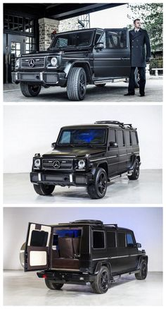 The Million Mercedes-Benz Armored Limo Is The Most Boss Ride Ever. Find out why here. Mercedes Benz, Mercedes G Wagon, Hummer Truck, Suv Trucks, Automobile, Luxury Suv, Hot Rides, Limousine, Armored Vehicles